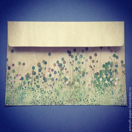 """Упаковка ручной работы. Ярмарка Мастеров - ручная работа. Купить Конверт """"Полевые цветы"""". Handmade. Разноцветный, полевые цветы"""