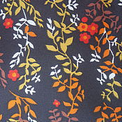 Материалы для творчества handmade. Livemaster - original item Vintage brown fabric with small flowers. Handmade.