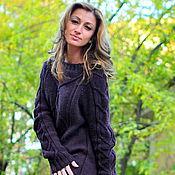 """Одежда ручной работы. Ярмарка Мастеров - ручная работа свитер """"Сливовый"""". Handmade."""