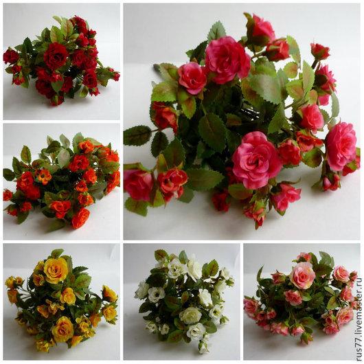 Материалы для флористики ручной работы. Ярмарка Мастеров - ручная работа. Купить Цв-95 Горшечная роза мини-мини. Handmade.