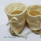 Обувь ручной работы. Ярмарка Мастеров - ручная работа Валяные пинетки для новорожденного Тапочки для малыша Детские. Handmade.