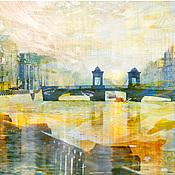 Картины и панно handmade. Livemaster - original item Photo picture of the City skyline View of St. Petersburg