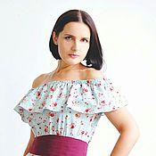 Одежда ручной работы. Ярмарка Мастеров - ручная работа Платье из хлопка в пол на лето. Handmade.