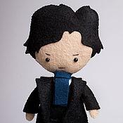 Куклы и игрушки ручной работы. Ярмарка Мастеров - ручная работа Шерлок Холмс - кукла ручной работы по мотивам сериала Шерлок BBC. Handmade.