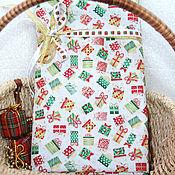 Материалы для творчества ручной работы. Ярмарка Мастеров - ручная работа Новогодняя  ткань подарки. Handmade.