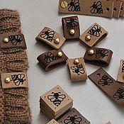 Материалы для творчества ручной работы. Ярмарка Мастеров - ручная работа Бирки на кнопке, кожаная бирка, бирка из кожи, бирочки из кожи. Handmade.