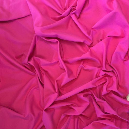 Шитье ручной работы. Ярмарка Мастеров - ручная работа. Купить Итальяская костюмная ткань Versace. Handmade. Фуксия, 5% эластан