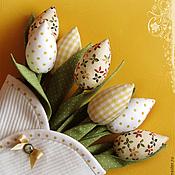 Цветы и флористика ручной работы. Ярмарка Мастеров - ручная работа Конверт с желтыми тюльпанами. Handmade.