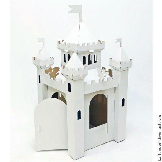 """Развивающие игрушки ручной работы. Ярмарка Мастеров - ручная работа. Купить Домик из картона """"Сказочный замок"""". Handmade. Домик из картона"""