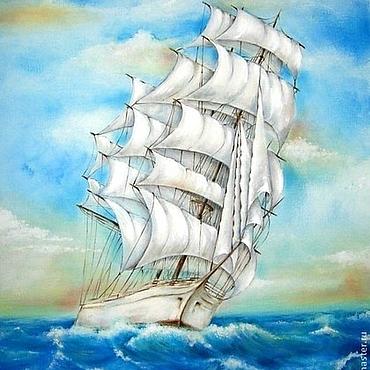 """Картины и панно ручной работы. Ярмарка Мастеров - ручная работа Картина """"Навстречу ветрам"""". Handmade."""