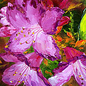 Pictures handmade. Livemaster - original item Oil painting Flowers rosemary. Handmade.