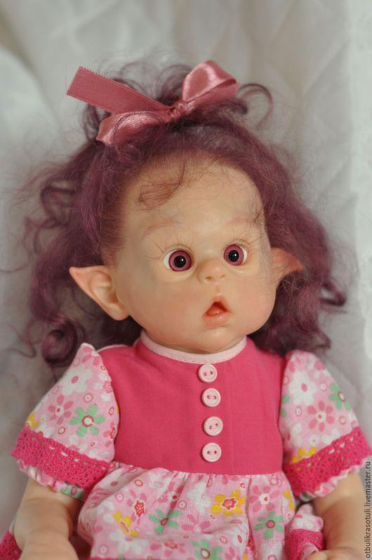 Куклы-младенцы и reborn ручной работы. Ярмарка Мастеров - ручная работа. Купить Виолетта. Handmade. Комбинированный, эльф, стекло