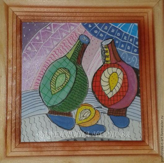 Натюрморт ручной работы. Ярмарка Мастеров - ручная работа. Купить Декоративный натюрморт. Handmade. Комбинированный, гуашь
