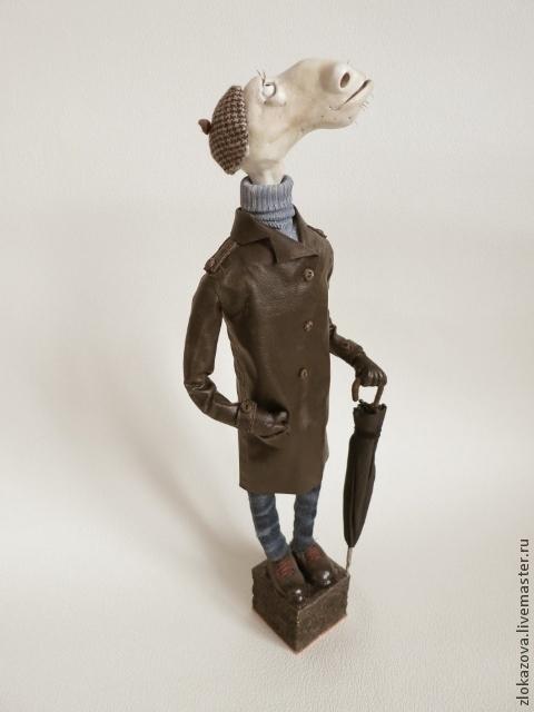 Куклы и игрушки ручной работы. Ярмарка Мастеров - ручная работа. Купить вполне приличный гражданин. Handmade. Бежевый, конь, ткань