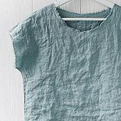 Одежда handmade. Livemaster - original item Linen blouse with open edges. Handmade.