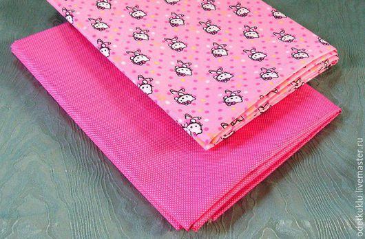 Шитье ручной работы. Ярмарка Мастеров - ручная работа. Купить Плащевая ткань Китти на розовом. Handmade. Плащевая ткань, ткань