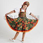 """Работы для детей, ручной работы. Ярмарка Мастеров - ручная работа танцевальный костюм """"Хохлома"""". Handmade."""