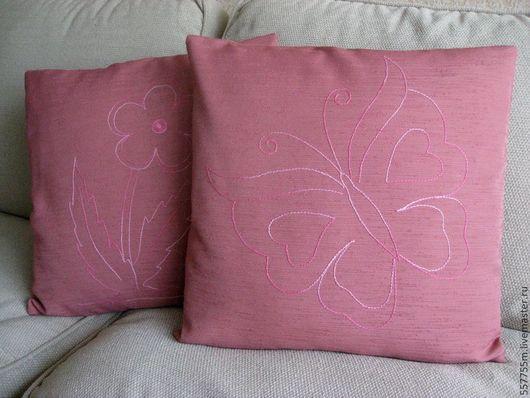 Текстиль, ковры ручной работы. Ярмарка Мастеров - ручная работа. Купить Декоративные подушки-комплект 2 подушки. Handmade. Розовый
