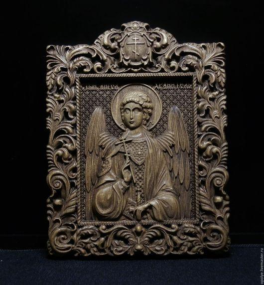 Иконы ручной работы. Ярмарка Мастеров - ручная работа. Купить Резная икона из дерева - Ангел Хранитель. Handmade. Икона, религия