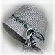 Шляпы ручной работы. Ярмарка Мастеров - ручная работа. Купить Клош вязаный серый. Handmade. Серый, шляпка, меланж