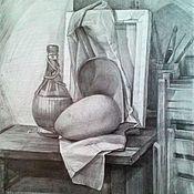 "Картины и панно handmade. Livemaster - original item Graphics . Pencil drawing "" In the workshop "". Handmade."