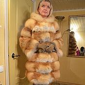 Одежда ручной работы. Ярмарка Мастеров - ручная работа шуба из лисы с капюшоном. Handmade.