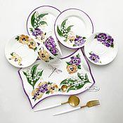 Посуда handmade. Livemaster - original item Painted porcelain tea Set tete a Tete. Handmade.
