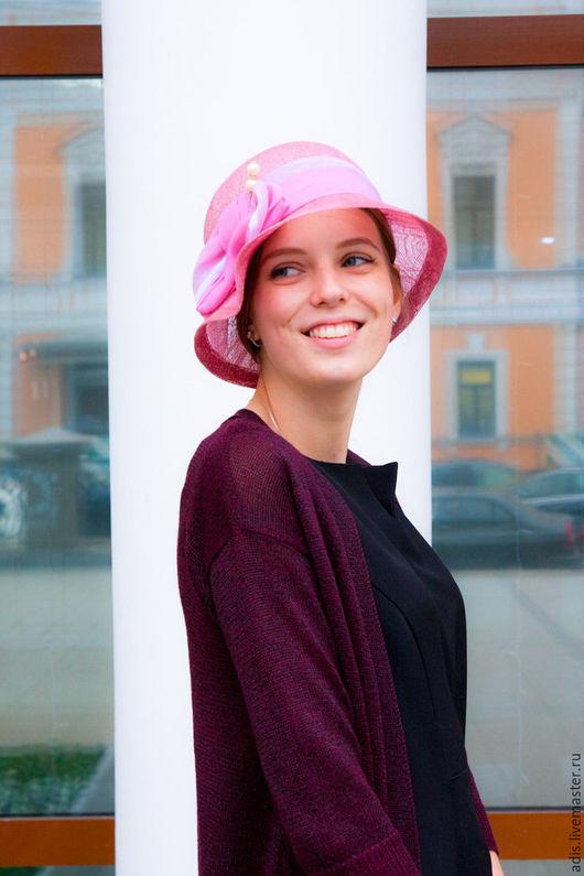 Шляпы ручной работы. Ярмарка Мастеров - ручная работа. Купить Шляпа соломенная «роза холодная». Handmade. Шляпа, шляпа клош