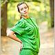 """Платья ручной работы. Ярмарка Мастеров - ручная работа. Купить Платье """"Диагональная коса"""". Handmade. Зеленый, авторская работа"""