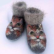 Обувь ручной работы handmade. Livemaster - original item Boots shortened Tisha and Tosha. Handmade.