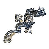 Украшения handmade. Livemaster - original item Cross pendant with Dragon # 3. Handmade.
