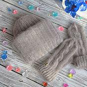 Аксессуары handmade. Livemaster - original item Knit set Hat and Mittens