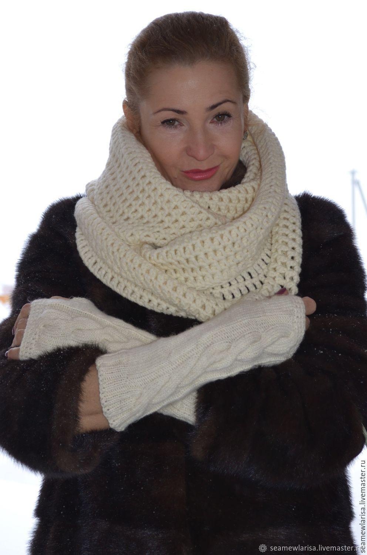 Snood fingerless gloves the wool handmade, Headwear Sets, Sarapul,  Фото №1