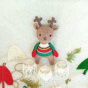 Мягкие игрушки ручной работы. Ярмарка Мастеров - ручная работа Мягкая игрушка олень вязаный. Handmade.