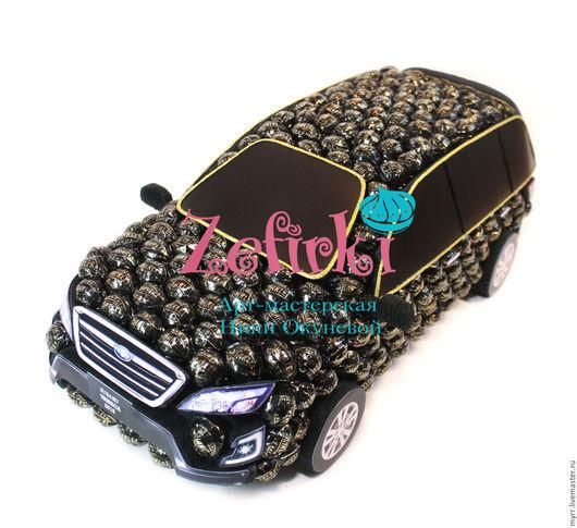 Подарки для мужчин, ручной работы. Ярмарка Мастеров - ручная работа. Купить Машина из конфет Subaru Tribeca  машинка подарок мужчине водителю. Handmade.