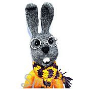 Куклы и игрушки ручной работы. Ярмарка Мастеров - ручная работа Валяный из шерсти кролик Арсений. Handmade.