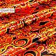 ' Khokhloma Feather of the Firebird ' Atlas, Fabric, Sergiev Posad,  Фото №1