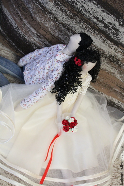Тильды куклы,Авторская кукла ручной работы.Куклы тильды Олеся и жених