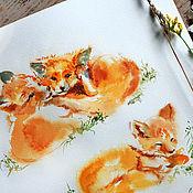 Картины и панно handmade. Livemaster - original item Mushrooms. Trio - painting on paper. Handmade.