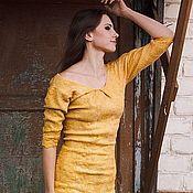 Одежда handmade. Livemaster - original item Sheath dress Antique Gold. Handmade.