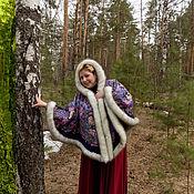 Одежда ручной работы. Ярмарка Мастеров - ручная работа ручная работа из павловопосадского платка. Handmade.