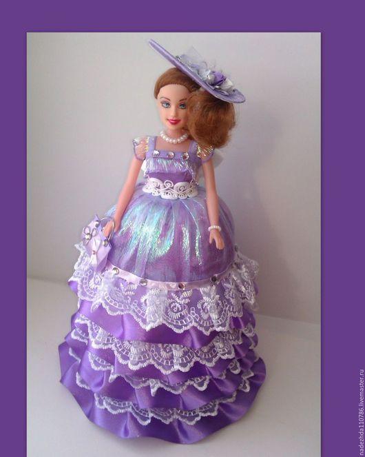 Шкатулки ручной работы. Ярмарка Мастеров - ручная работа. Купить Кукла Шкатулка. Handmade. Комбинированный, кукла в подарок, атласная лента