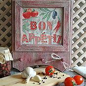 """Для дома и интерьера ручной работы. Ярмарка Мастеров - ручная работа -10% Вешалка для кухни """"Bon Appetit..."""". Handmade."""