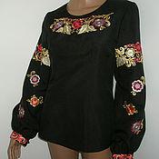 """Одежда ручной работы. Ярмарка Мастеров - ручная работа блузка """" цветочная роспись"""". Handmade."""