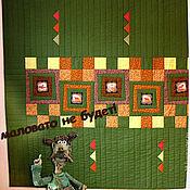 Для дома и интерьера ручной работы. Ярмарка Мастеров - ручная работа лоскутное одеяло Охотничьи байки. Handmade.