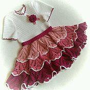 Работы для детей, ручной работы. Ярмарка Мастеров - ручная работа Платье Розовая нежность. Handmade.