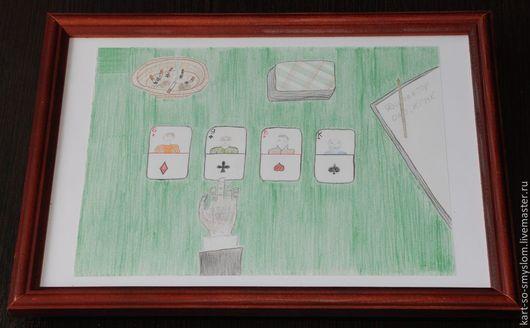 Люди, ручной работы. Ярмарка Мастеров - ручная работа. Купить Картинки со смыслом: №22 - Тузов нет. Handmade. Картинка, карьера