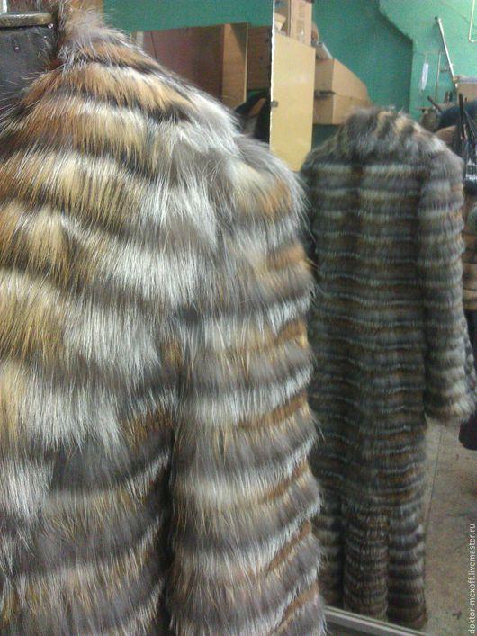 Верхняя одежда ручной работы. Ярмарка Мастеров - ручная работа. Купить Шуба из лисы. Handmade. Рыжий, морская волна