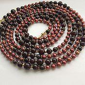 Украшения handmade. Livemaster - original item with pendant the elixir of her youth garnet and pearls. Handmade.