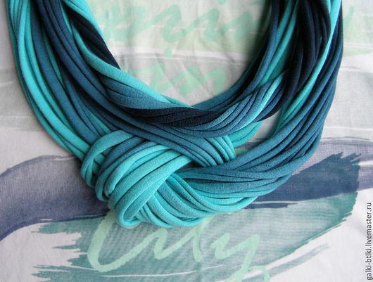 Колье, бусы ручной работы. Ярмарка Мастеров - ручная работа. Купить Трикотажный шарф- колье-трансформер Gradient. Handmade.
